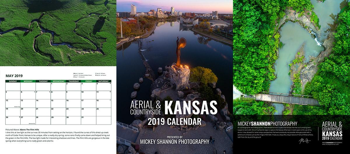 2019 Aerial Kansas Calendar
