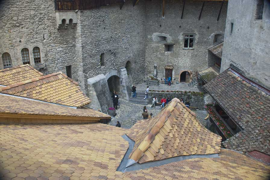 Chateau de Chillon Courtyard