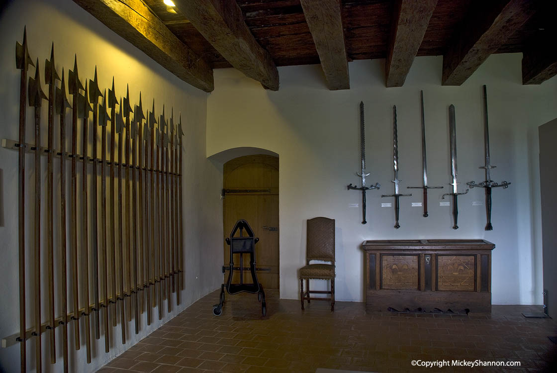 Weapons Display in Spiez Castle