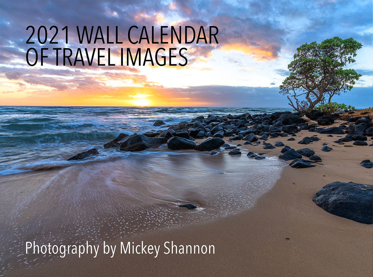 2021 Travel Photography Wall Calendars
