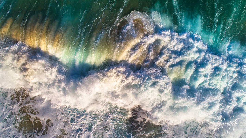 Aerial Chaos - Tunnels Beach, Kauai, Hawaii