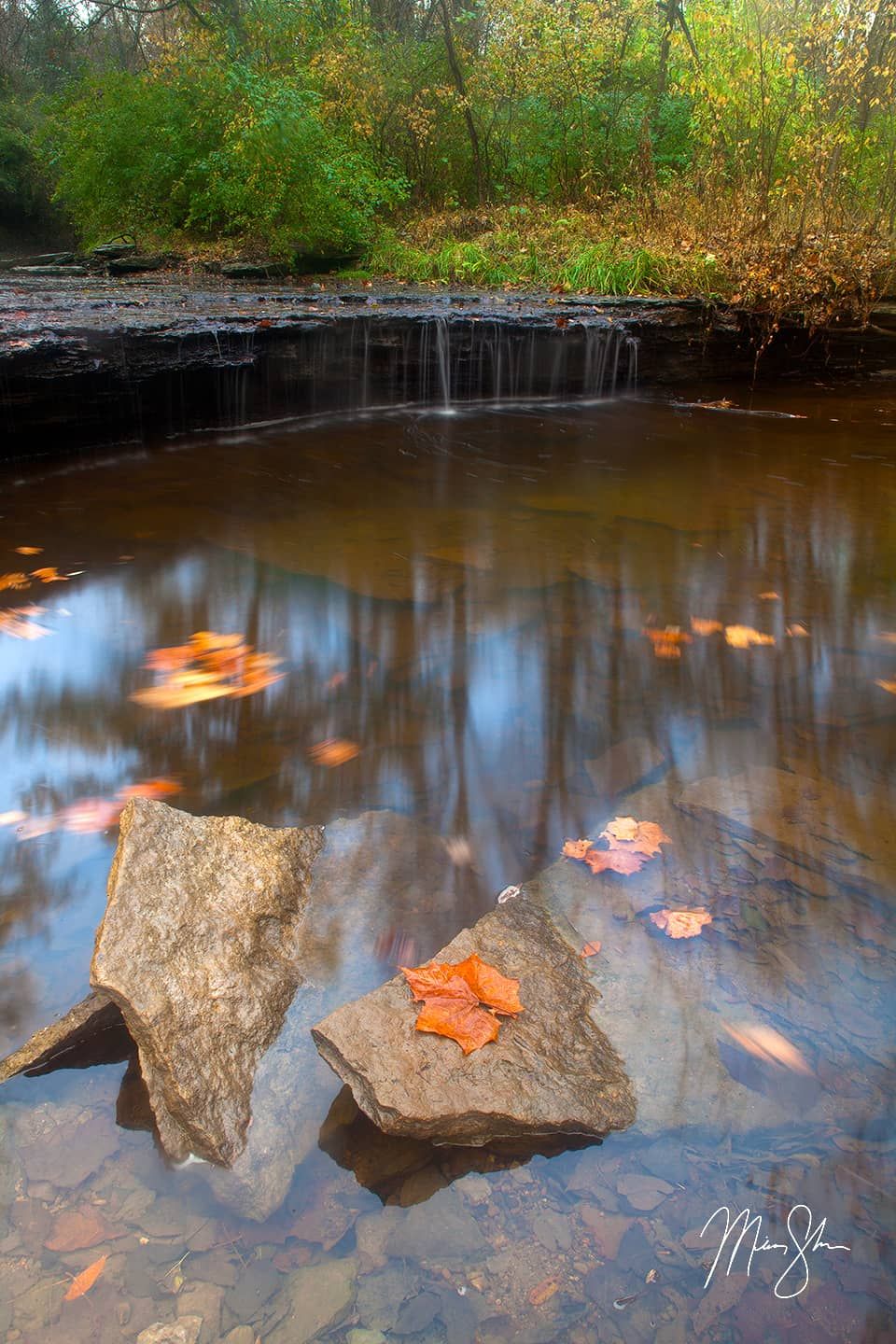 Open edition fine art print of Angel Falls Autumn from Mickey Shannon Photography. Location: Lansing, KS