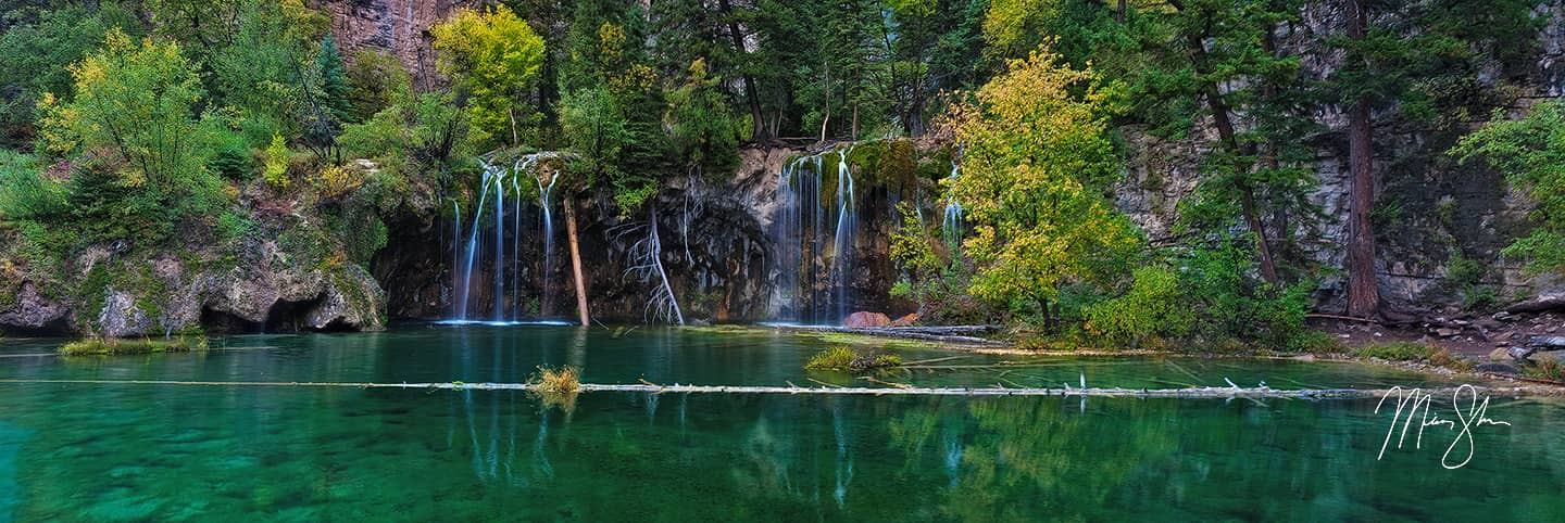 Autumn Panorama of Hanging Lake