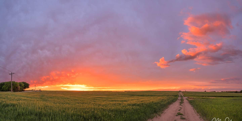 Backroad Sunset - Goddard, Kansas