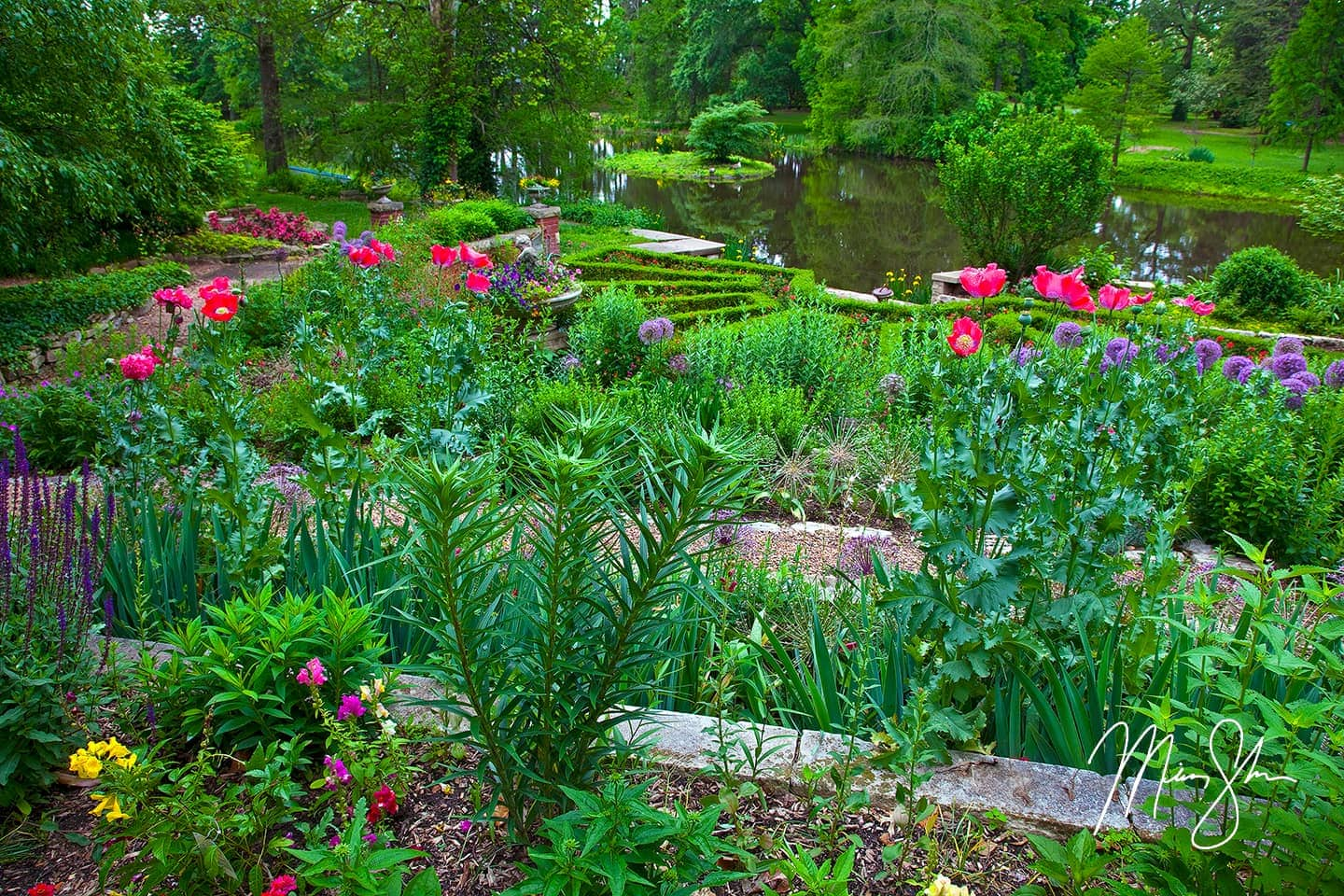 Open edition fine art print of Bartlett Arboretum Gardens from Mickey Shannon Photography. Location: Bartlett Arboretum, Belle Plaine, Kansas