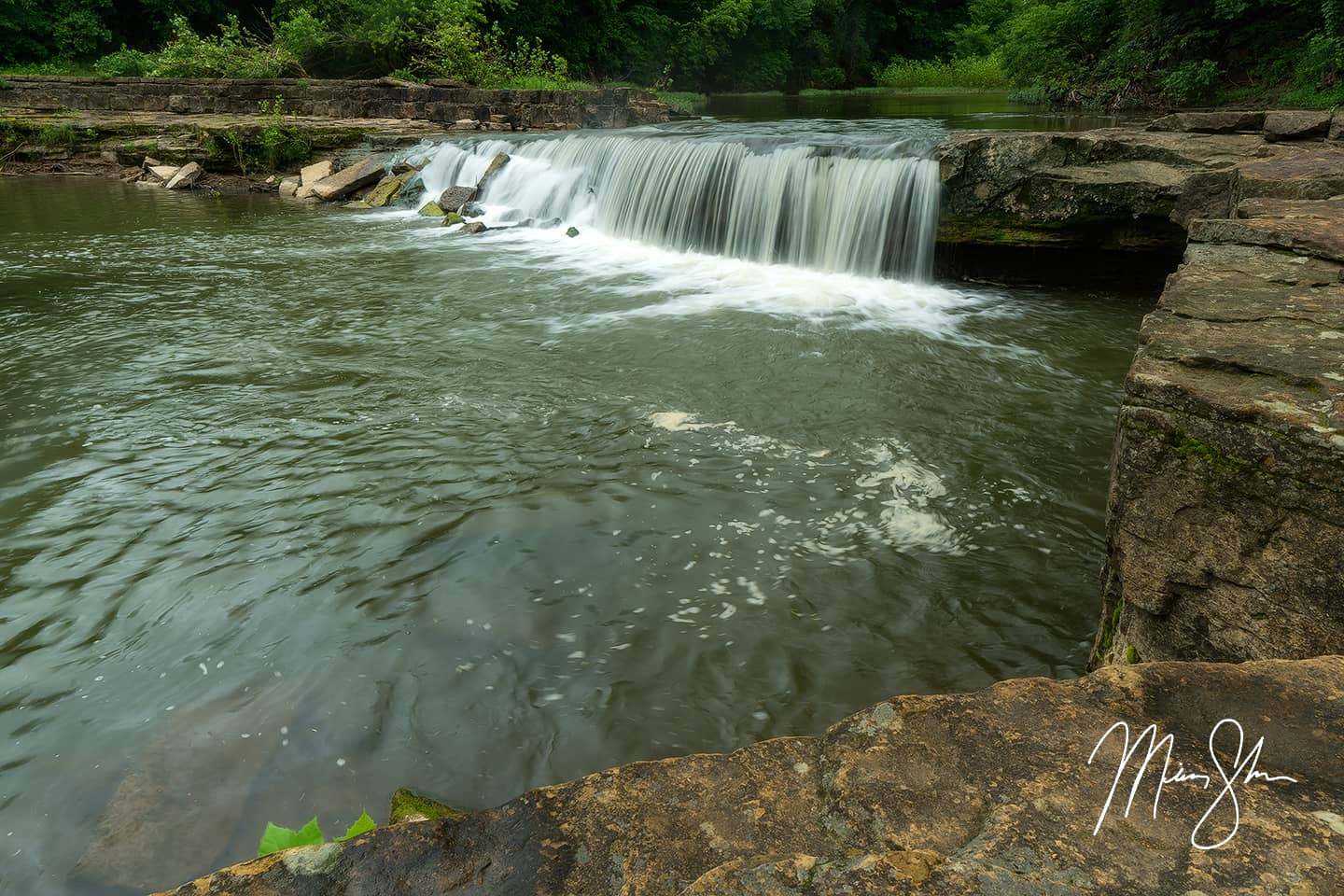 Open edition fine art print of Beautiful Elk Falls from Mickey Shannon Photography. Location: Elk Falls, Kansas