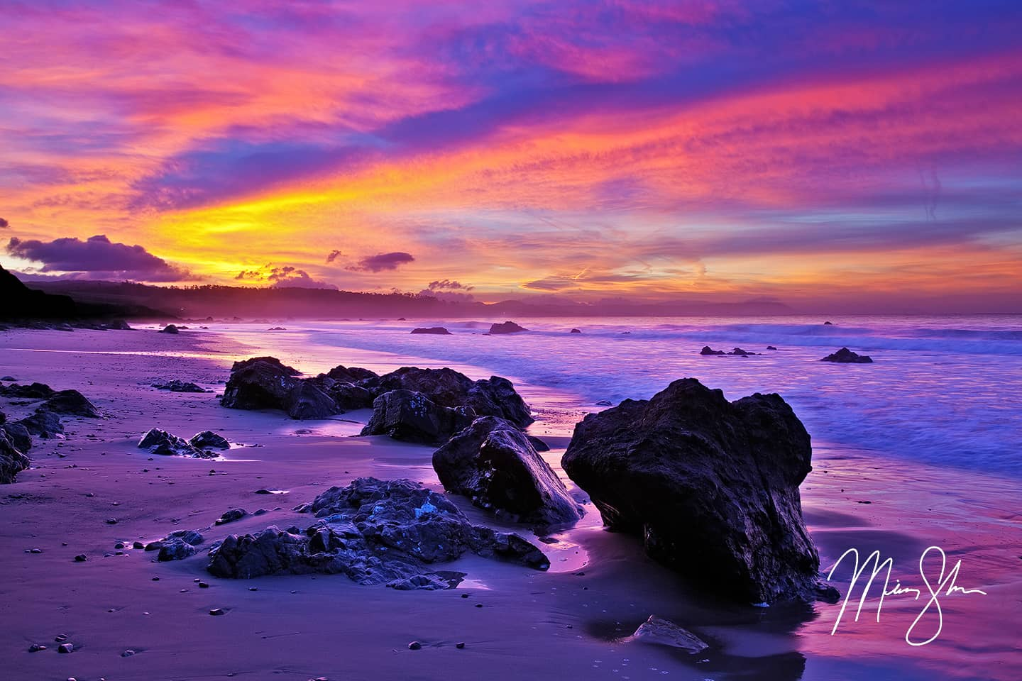 Open edition fine art print of Big Sur Sunrise from Mickey Shannon Photography. Location: San Simeon, Big Sur, California
