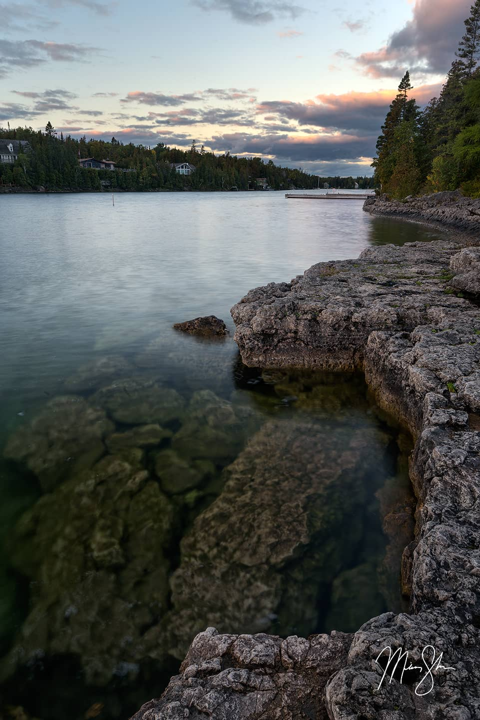 Open edition fine art print of Big Tub Harbour Sunrise from Mickey Shannon Photography. Location: Tobermory, Ontario, Canada