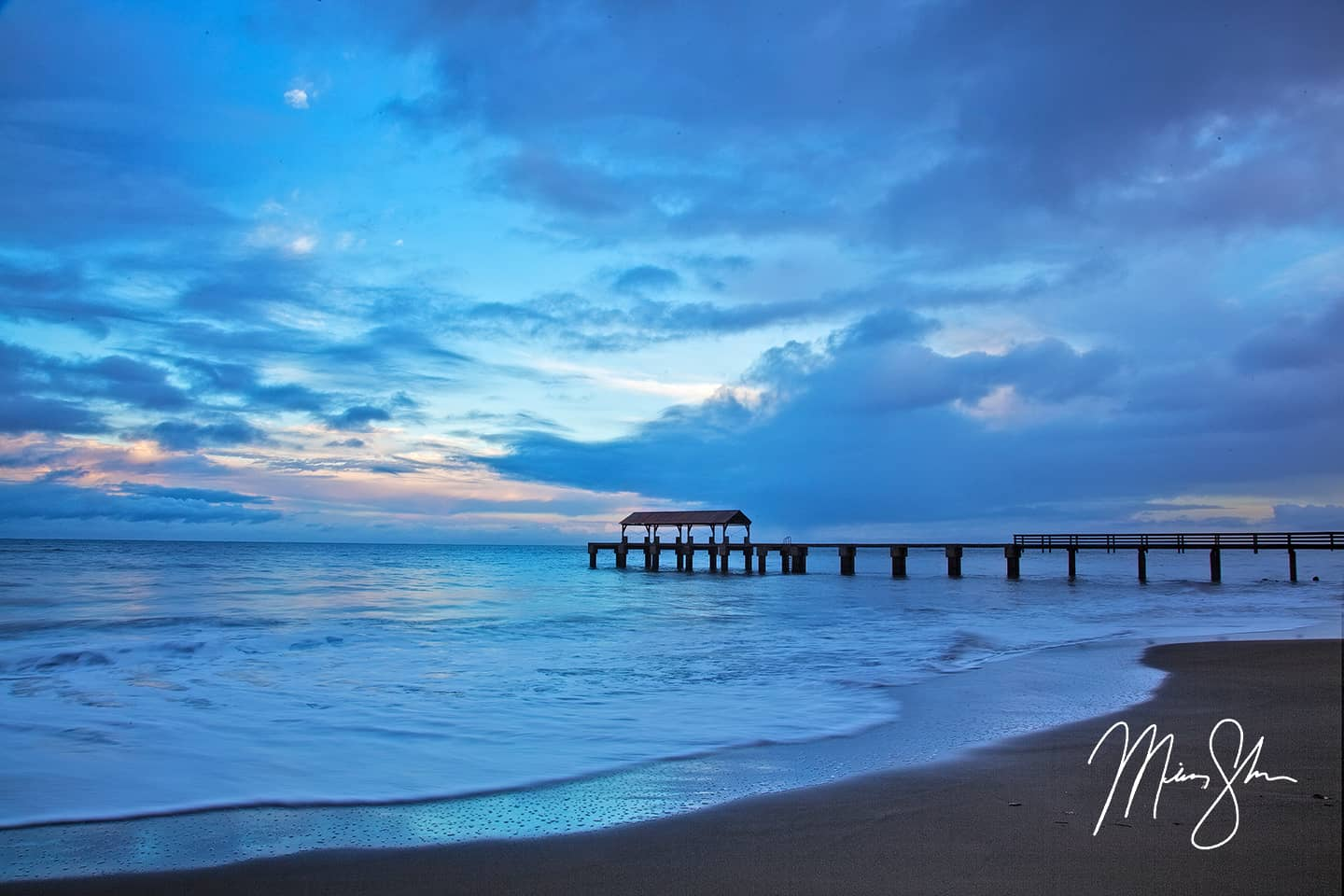 Blue Hour at Waimea Bay Pier