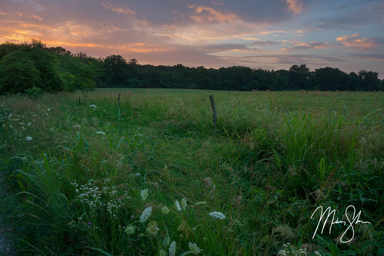 Bourbon County Sunset - Elsmore, KS