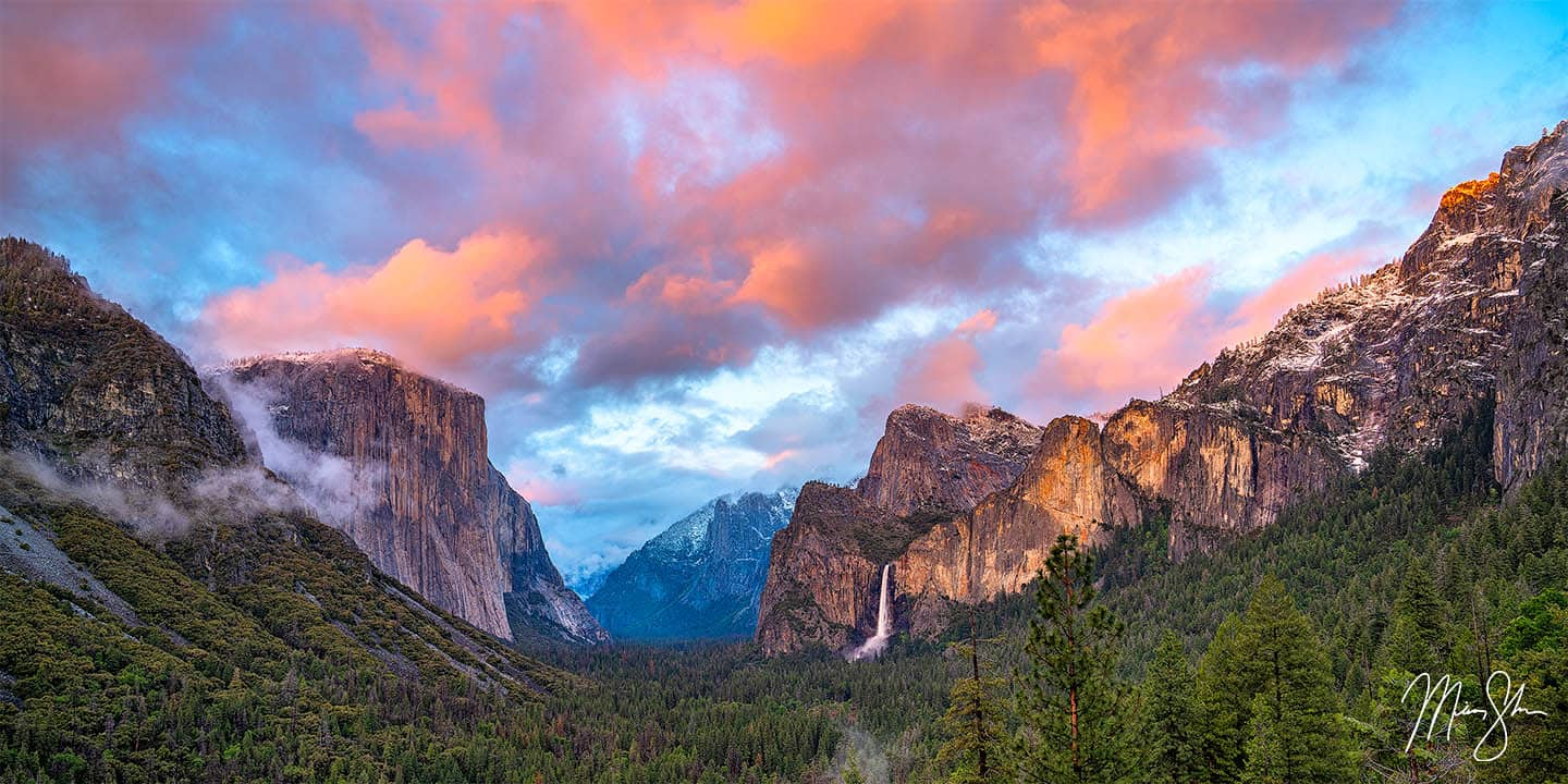 California Photography: Tunnel View at sunset