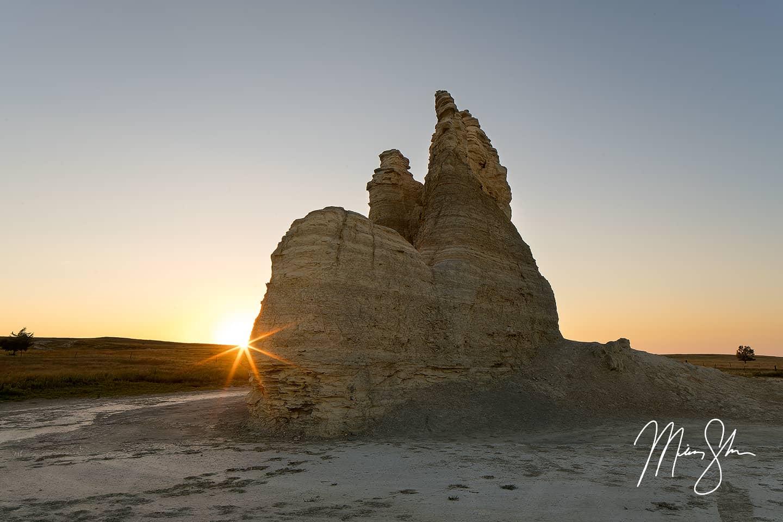 Castle Rock Sunset - Castle Rock, Kansas
