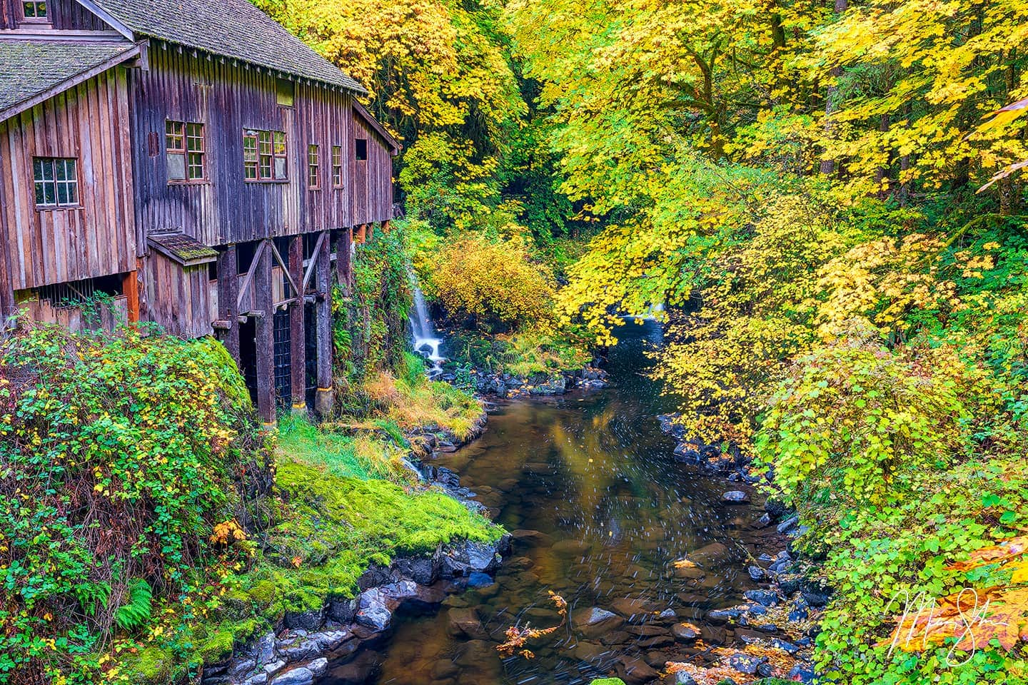 Open edition fine art print of Magical Mill from Mickey Shannon Photography. Location: Cedar Creek Grist Mill, Washington