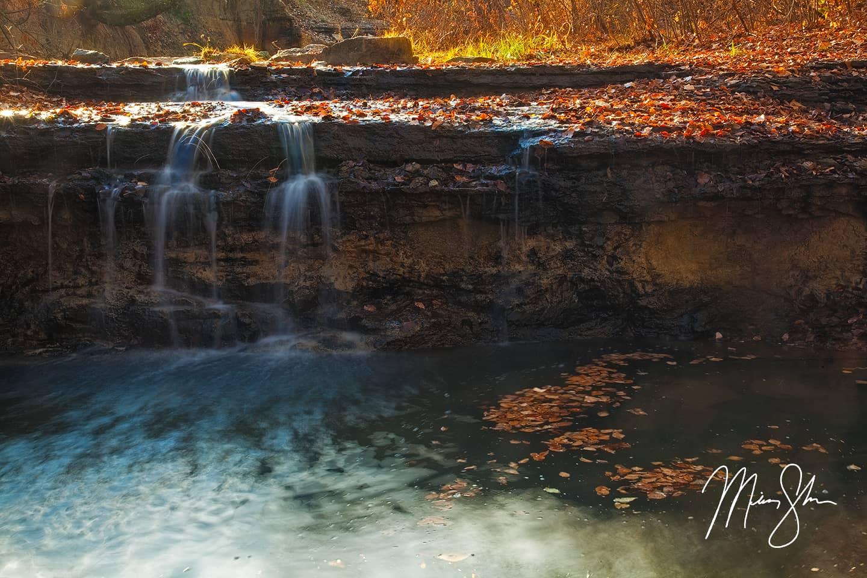 Chase Lake Falls of Gold - Chase State Fishing Lake, Kansas