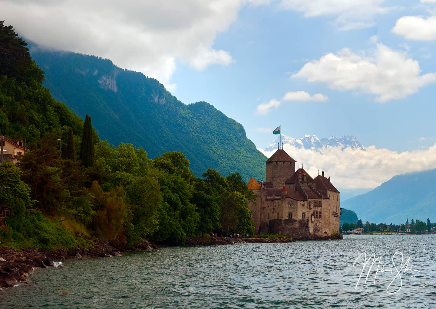 Chillon And The Alps