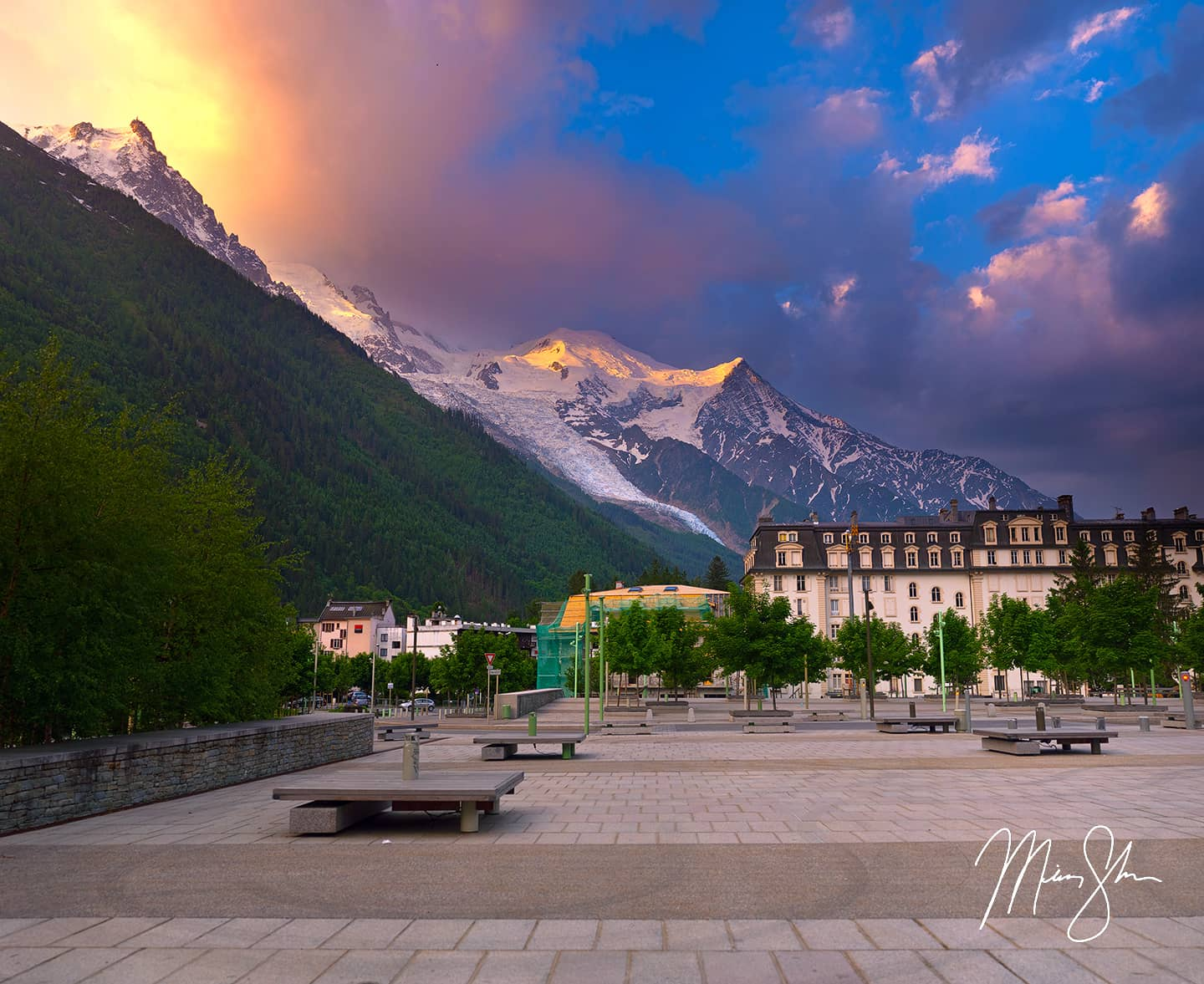 Open edition fine art print of Colorful Chamonix from Mickey Shannon Photography. Location: Chamonix-Mont Blanc, France