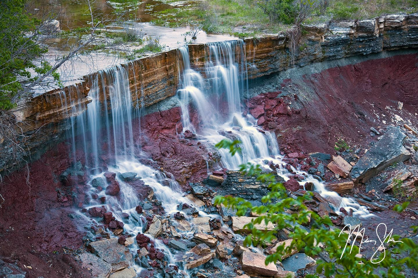 Cowley Lake Waterfall
