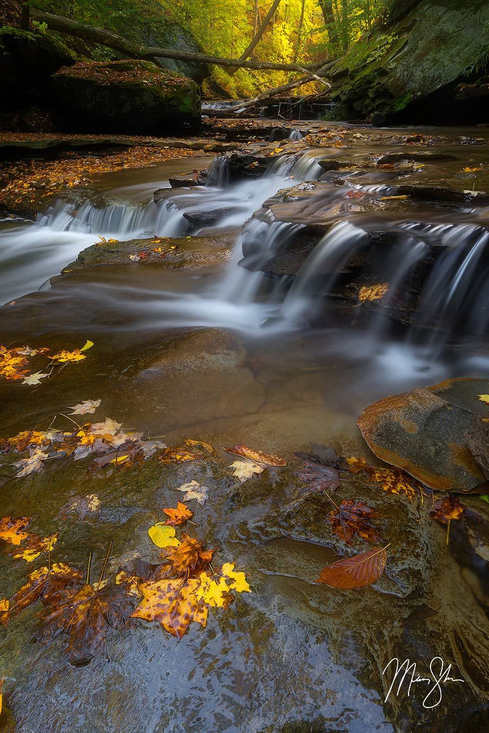Open edition fine art print of Cuyahoga Valley Autumn from Mickey Shannon Photography. Location: Brandywine Falls, Cuyahoga Valley National Park, Ohio