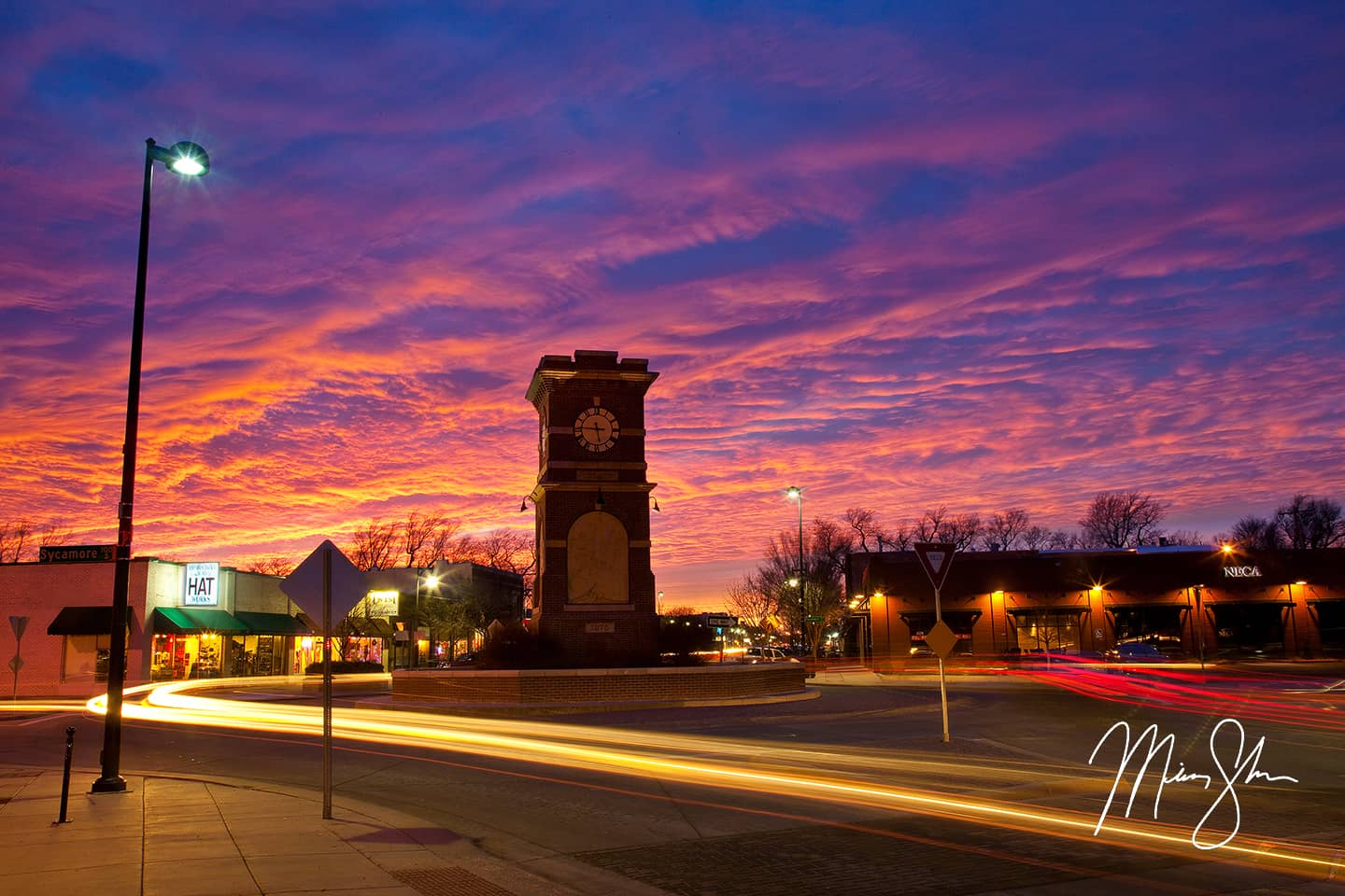 Calendar Art Ks : Delano district sunset wichita kansas