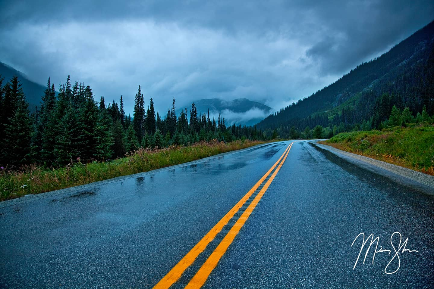 Open edition fine art print of Driving Coastal Canada from Mickey Shannon Photography. Location: Near Whistler, British Columbia, Canada