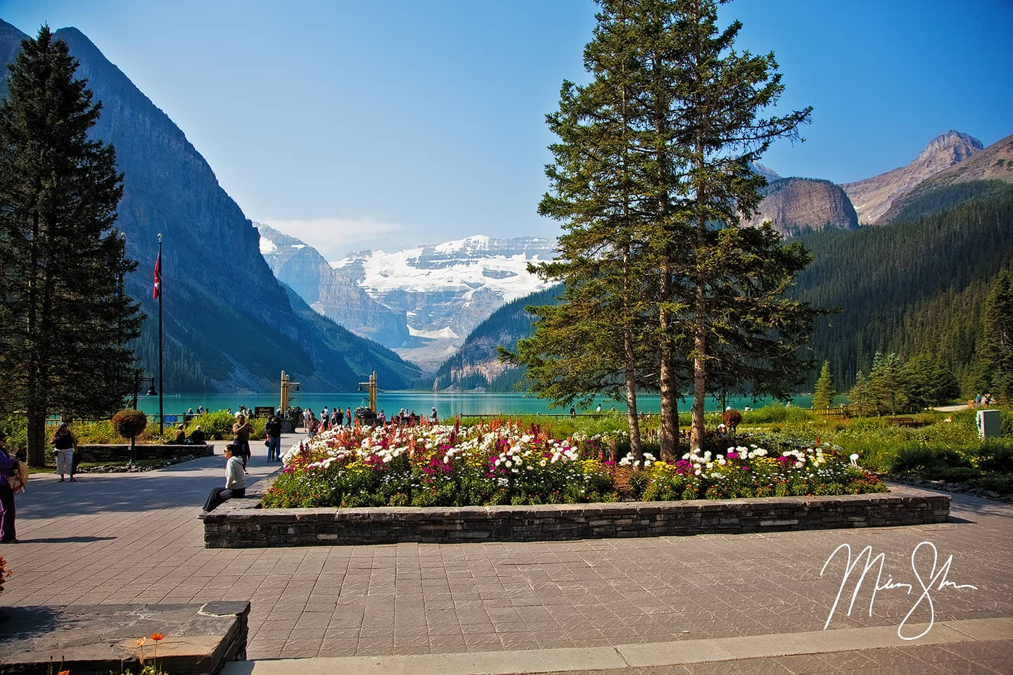 Open edition fine art print of Fairmont Gardens Lake Louise from Mickey Shannon Photography. Location: The Fairmont Chateau, Lake Louise, Banff National Park, Alberta, Canada