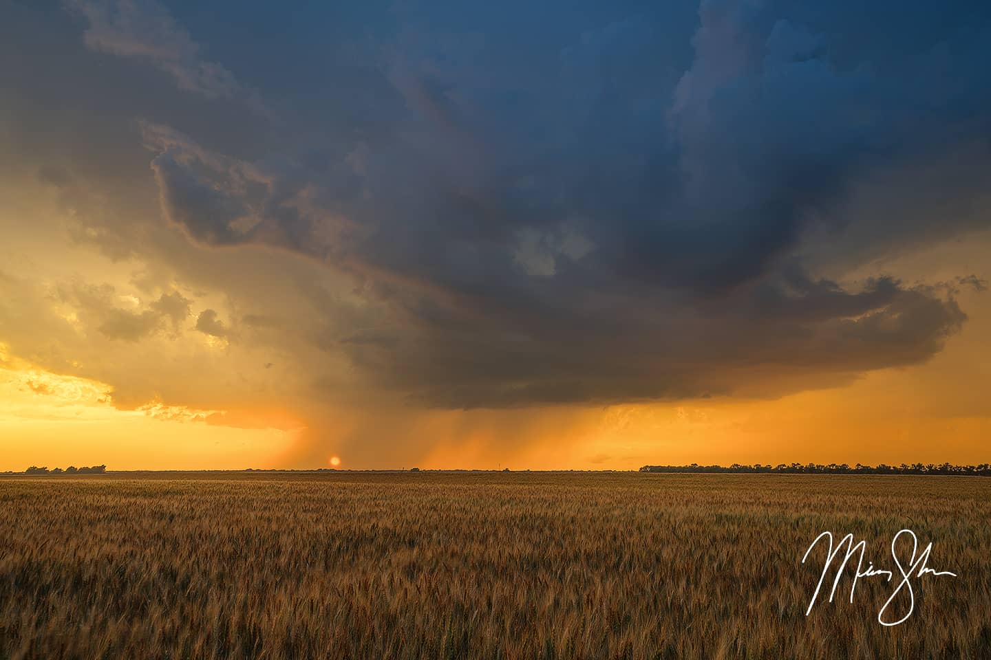 Open edition fine art print of Fire and Rain from Mickey Shannon Photography. Location: Wichita, Kansas