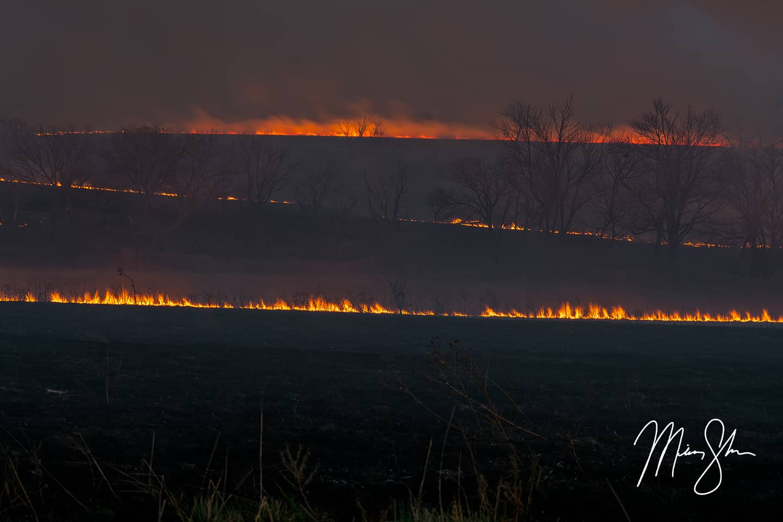 Flint Hills Fire - East of Marion, Kansas