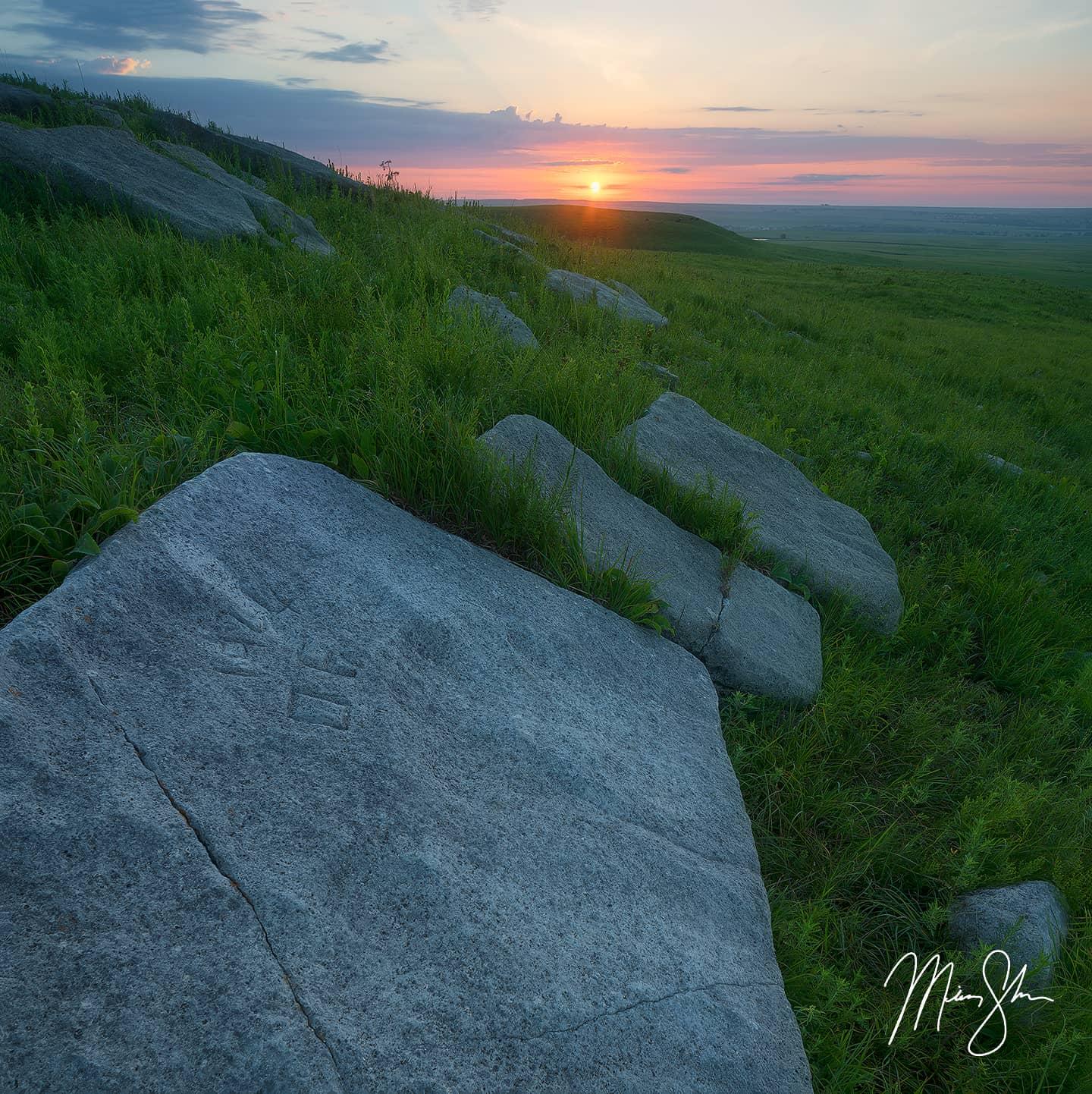 Flint Hills Sunrise - The Flint Hills, Kansas