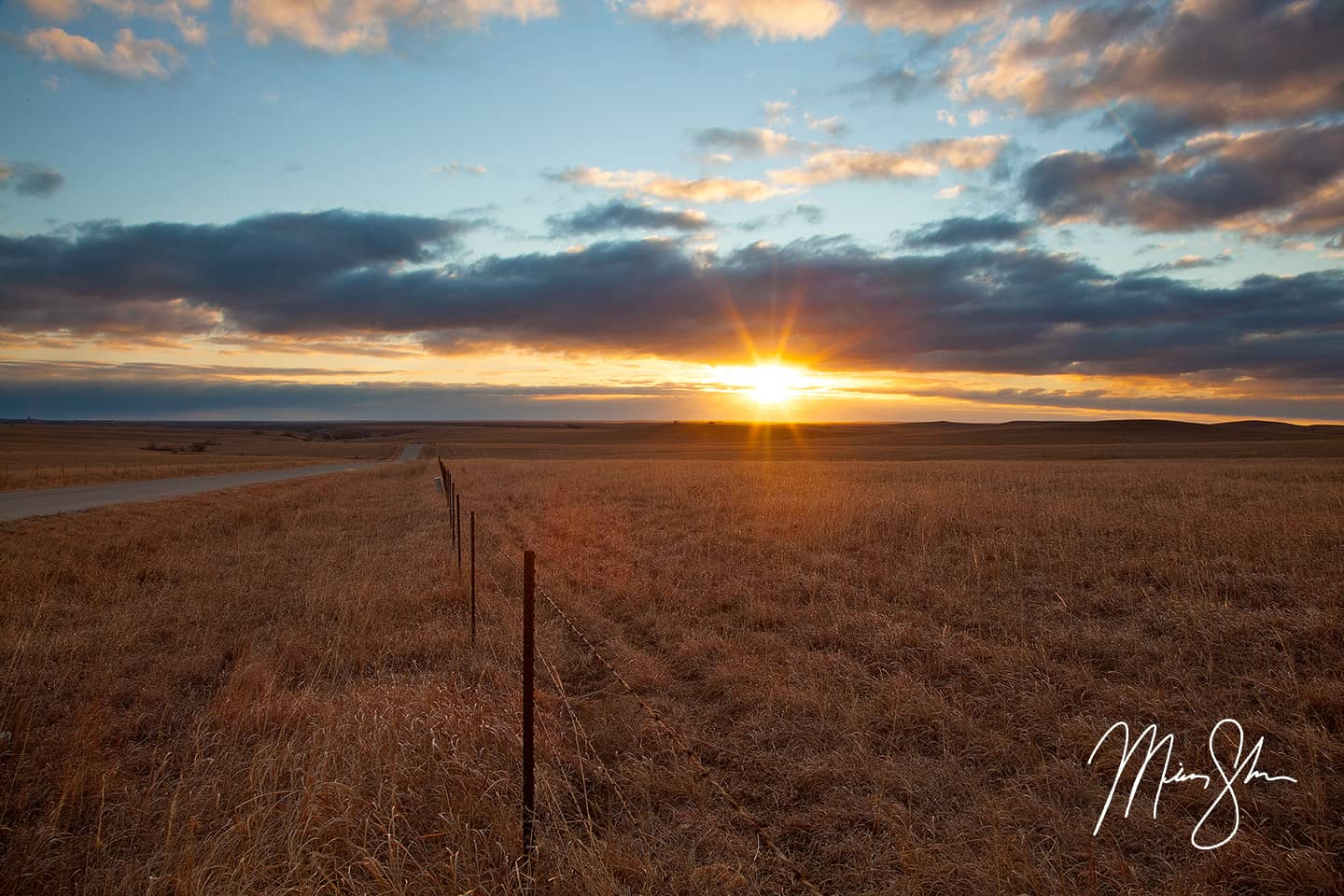 Flint Hills Winter Sunrise