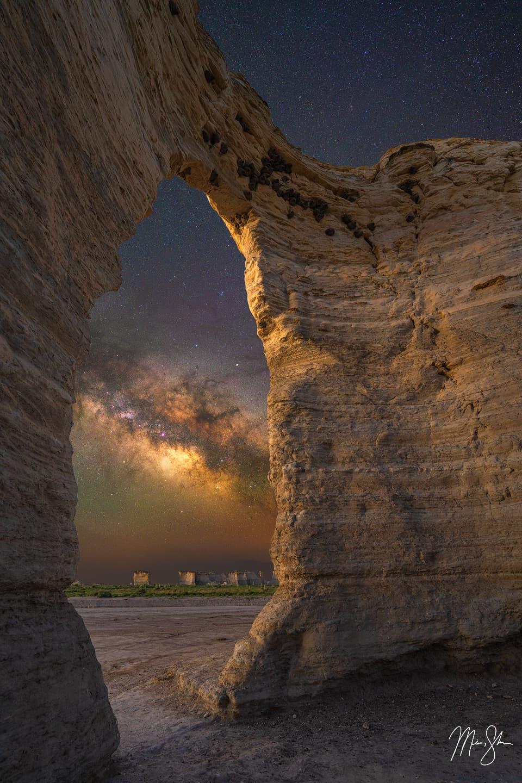 Galactic Doorway - Monument Rocks, Kansas