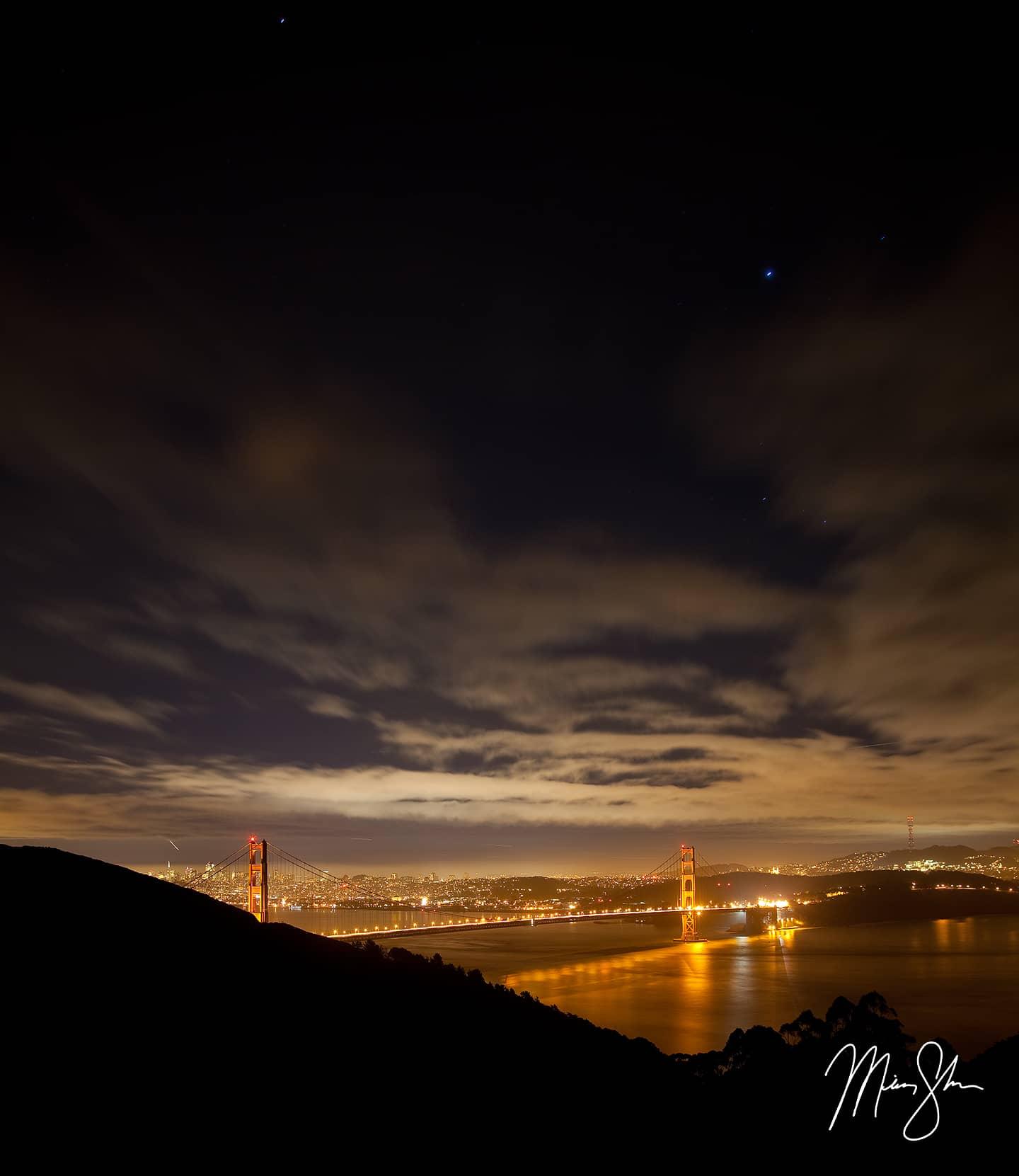 Golden Gate Stars - Golden Gate Bridge, San Francisco, California