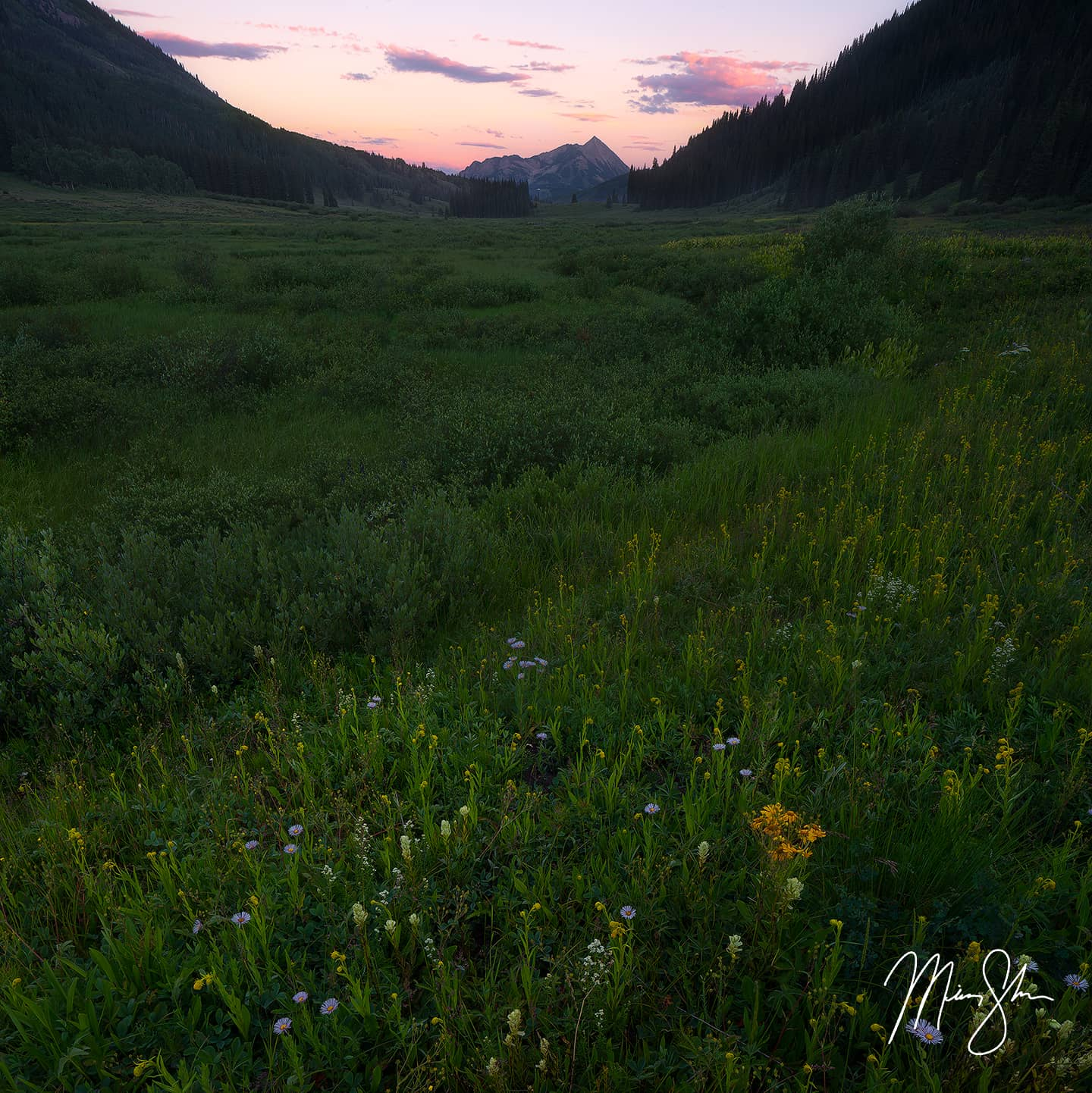 Open edition fine art print of Gothic Sunset from Mickey Shannon Photography. Location: Gothic, Crested Butte, Colorado