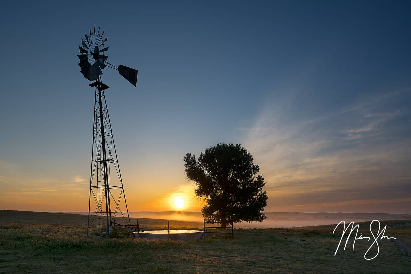 Open edition fine art print of Gypsum Hills Sunrise from Mickey Shannon Photography. Location: Little Basin, Ashland, Kansas