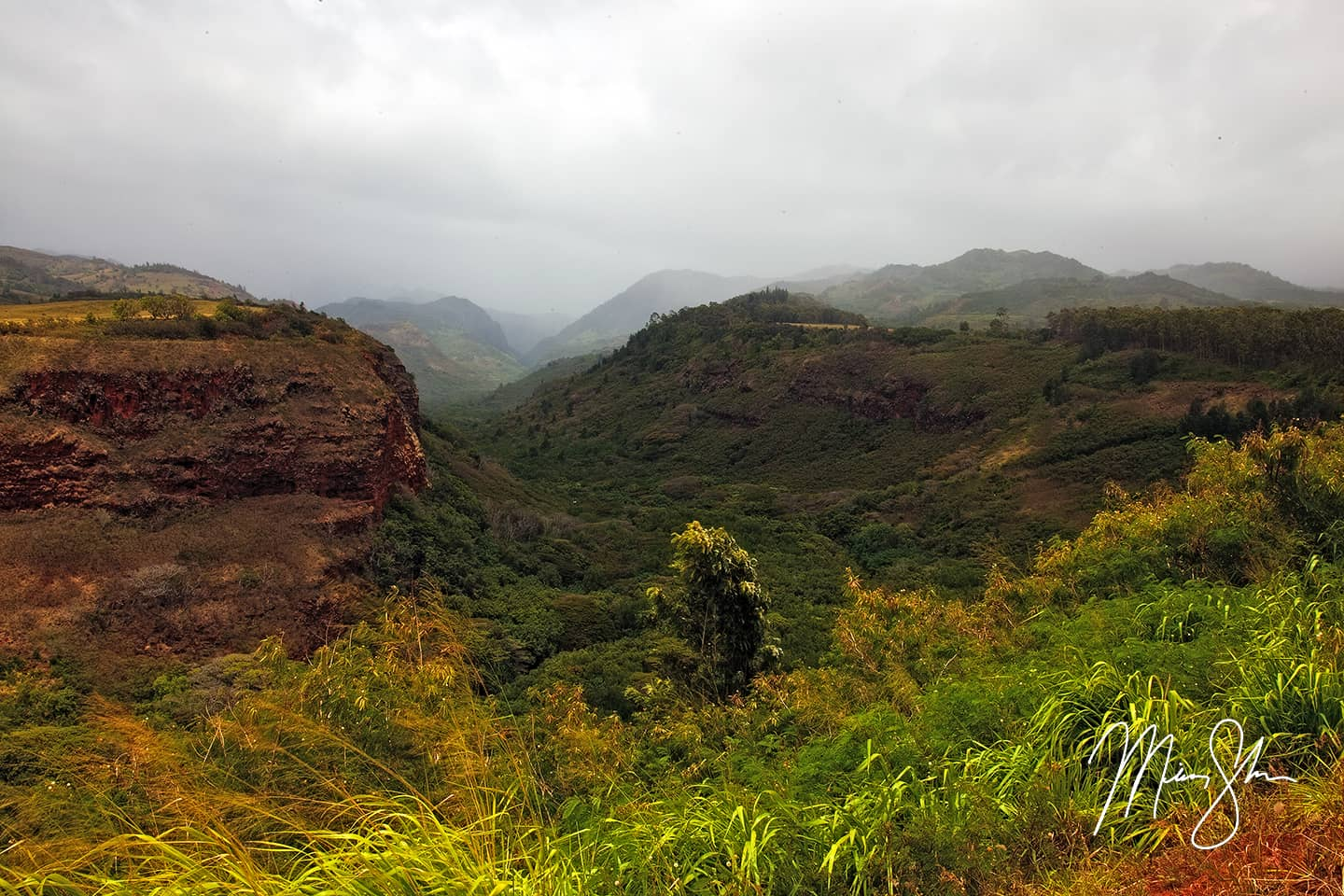 Open edition fine art print of Hanapepe Valley Lookout from Mickey Shannon Photography. Location: Hanapepe Valley, Kauai, Hawaii