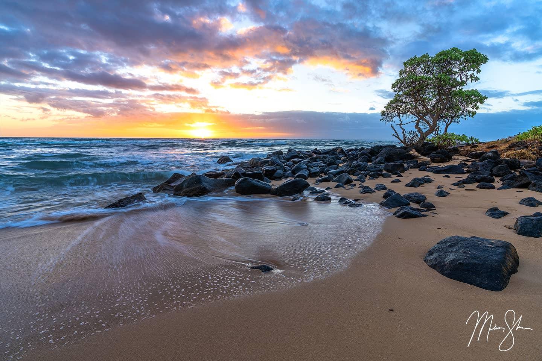 Hawaiian Sunrise - Lydgate Beach Park, Kauai, Hawaii