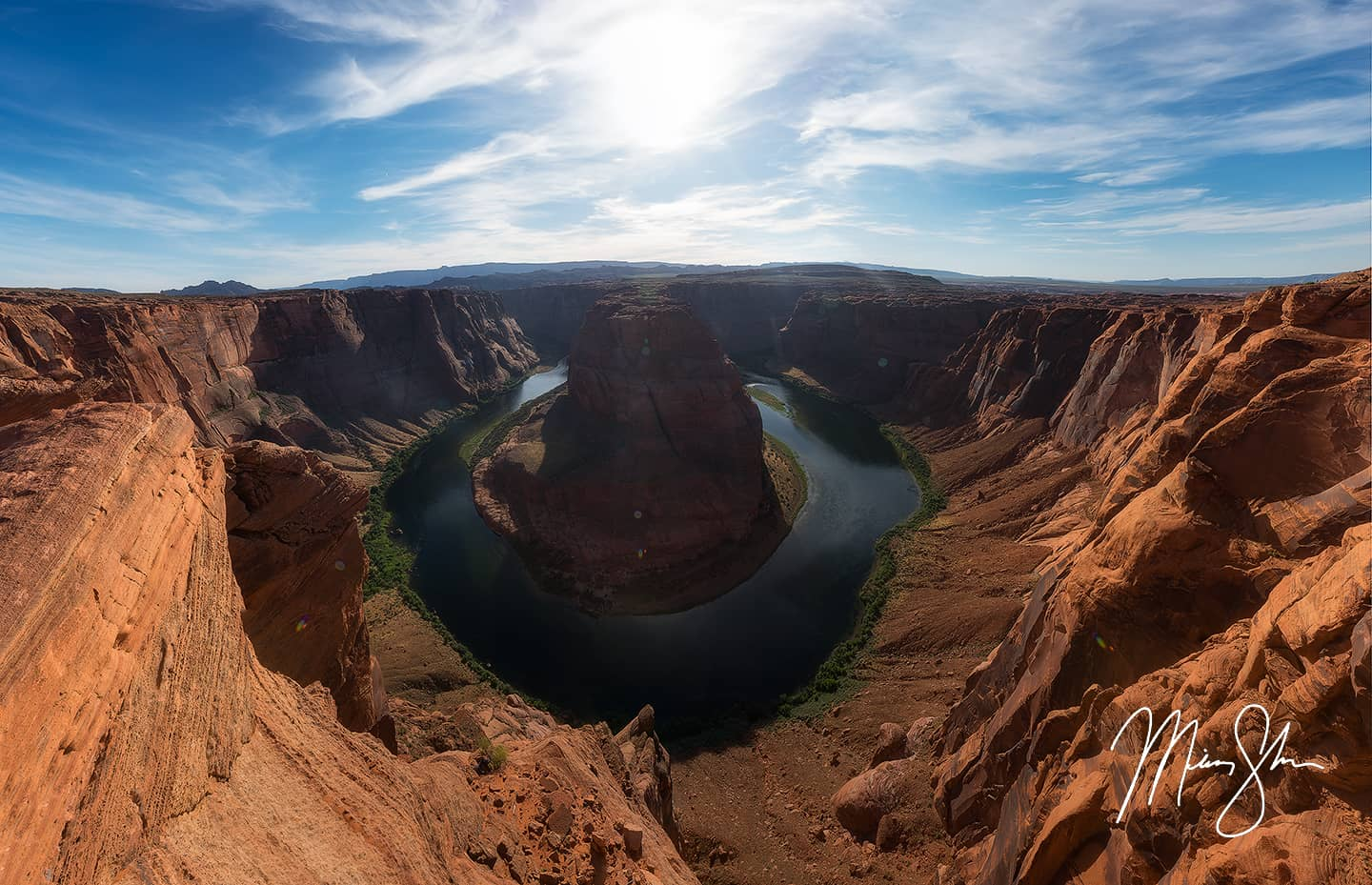 Open edition fine art print of Horseshoe Bend Panorama from Mickey Shannon Photography. Location: Horseshoe Bend, Page, Arizona