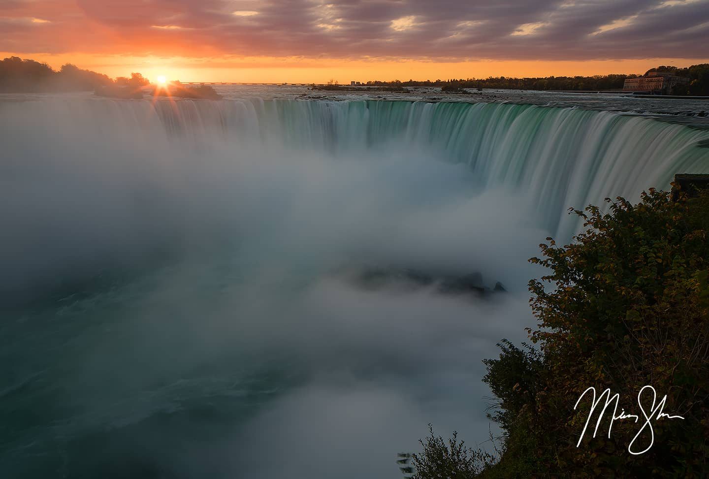 Open edition fine art print of Horseshoe Falls Sunrise at Niagara Falls from Mickey Shannon Photography. Location: Niagara Falls, Ontario, Canada