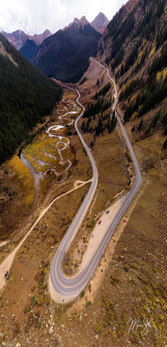 Independence Pass Autumn Curves - Independence Pass, Colorado