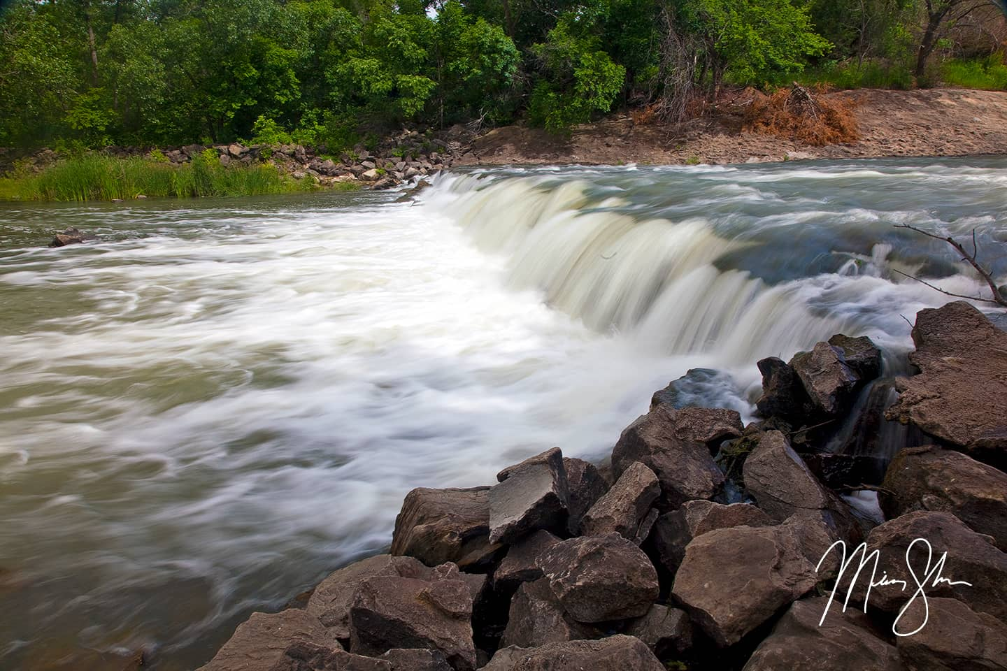 Open edition fine art print of Kanopolis Falls from Mickey Shannon Photography. Location: Kanopolis State Park