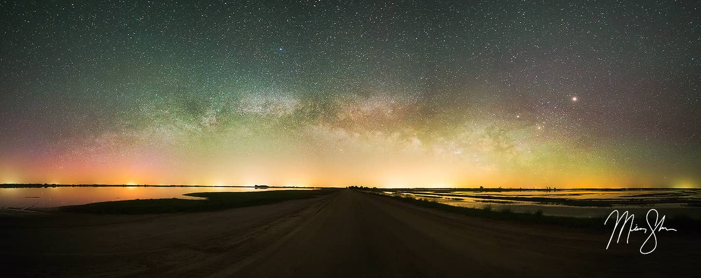 Kansas Aurora Borealis Milky Way Panorama