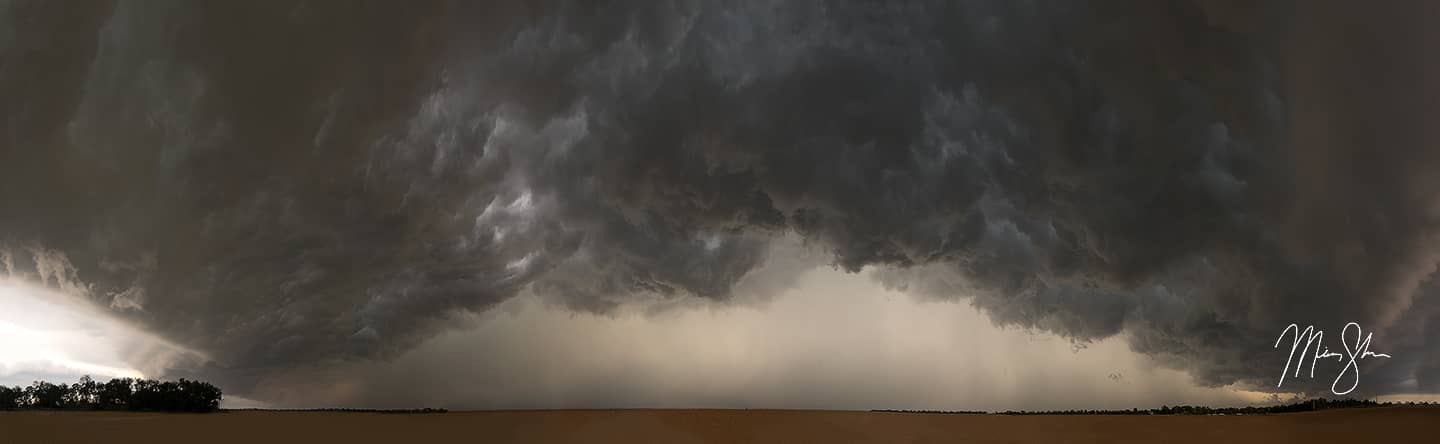 Open edition fine art print of Kansas Storm Clouds Panorama from Mickey Shannon Photography. Location: Near Wichita, Kansas