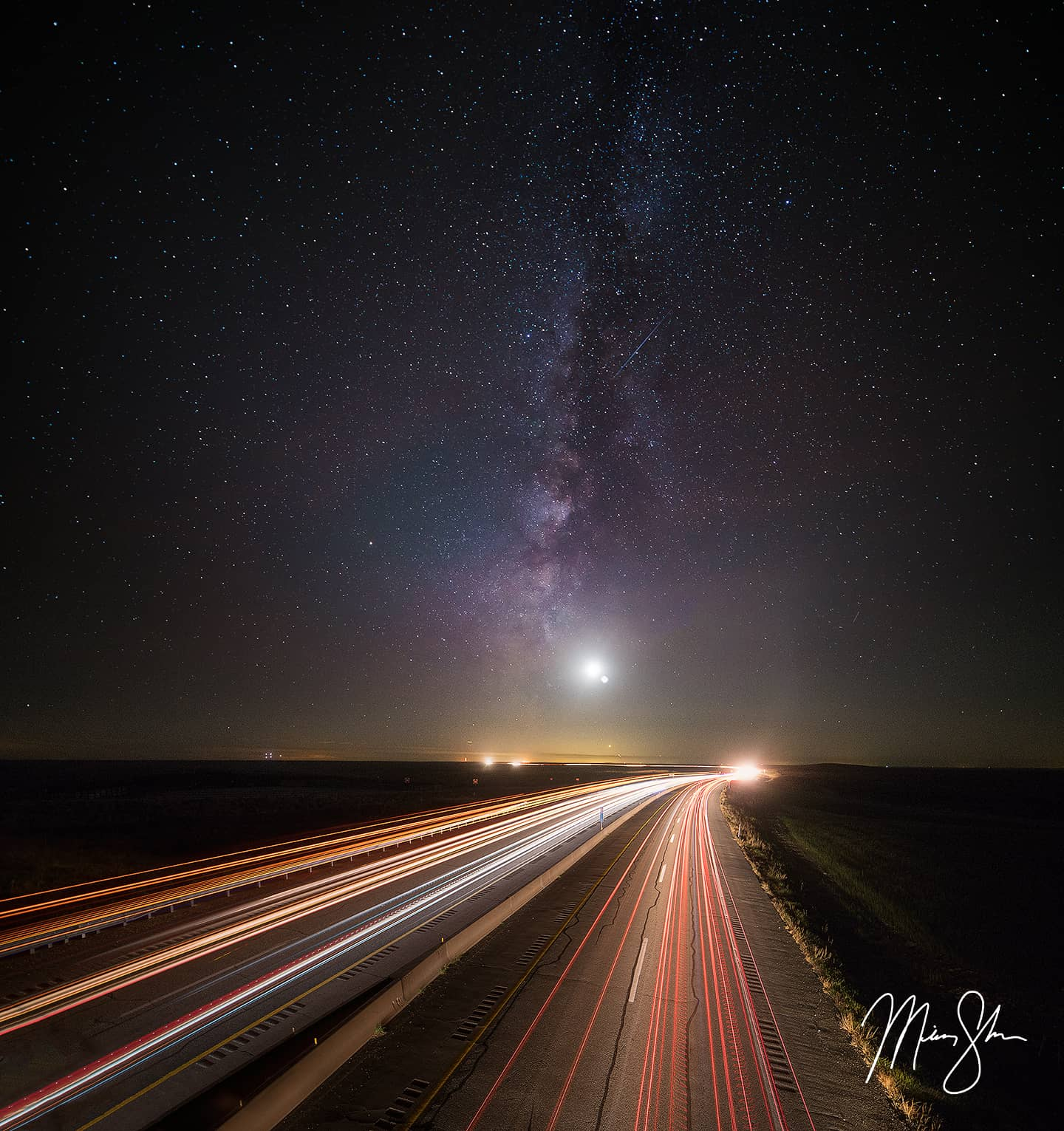 Kansas Turnpike Milky Way