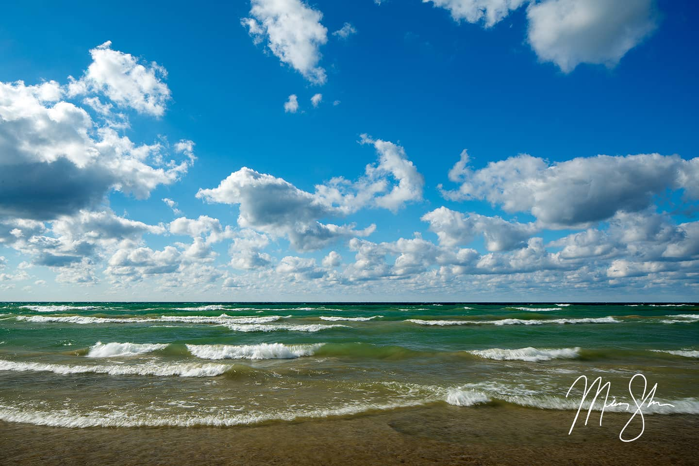 Open edition fine art print of Lake Huron Blues from Mickey Shannon Photography. Location: Sauble Beach, Ontario, Canada