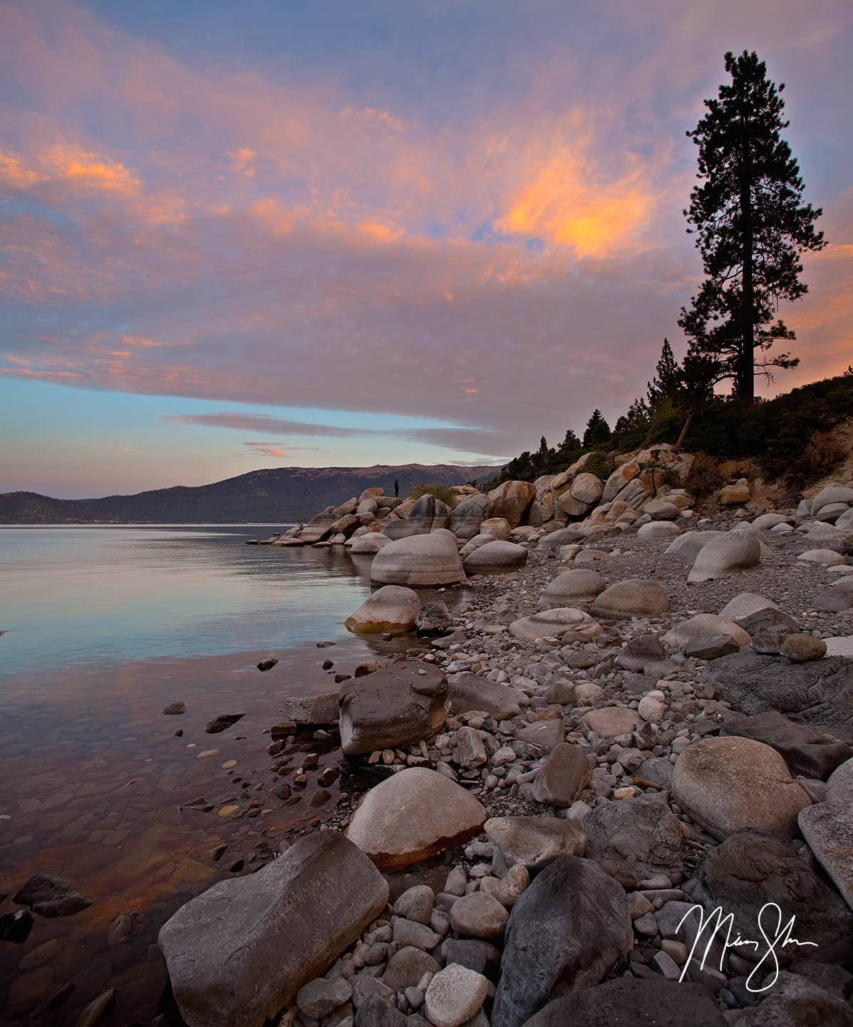 Open edition fine art print of Lake Tahoe Vertical Panorama from Mickey Shannon Photography. Location: Lake Tahoe, Nevada
