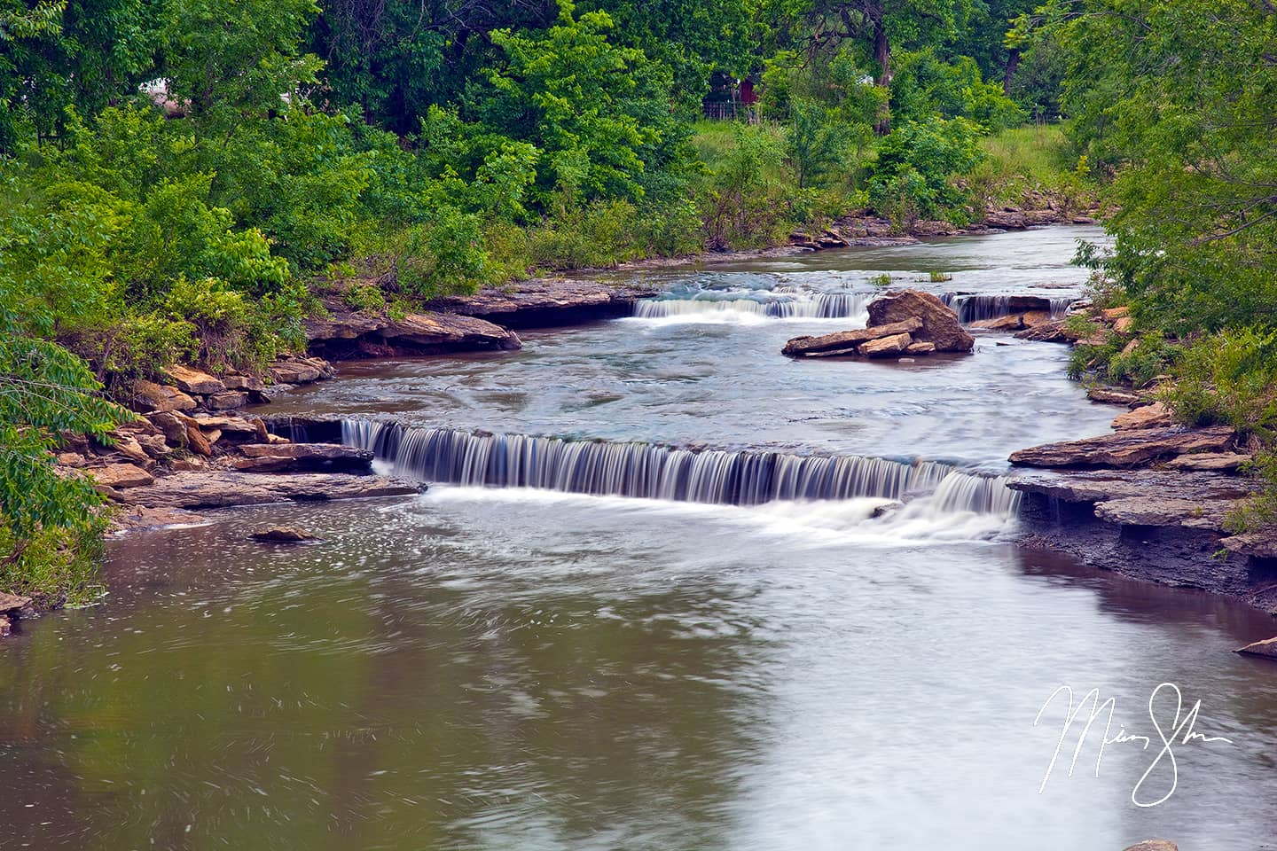 Open edition fine art print of Little Biddle Falls from Mickey Shannon Photography. Location: Moline, Kansas