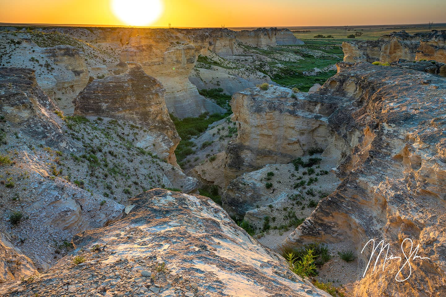 Open edition fine art print of Little Jerusalem Badlands from Mickey Shannon Photography. Location: Little Jerusalem Badlands State Park, Kansas