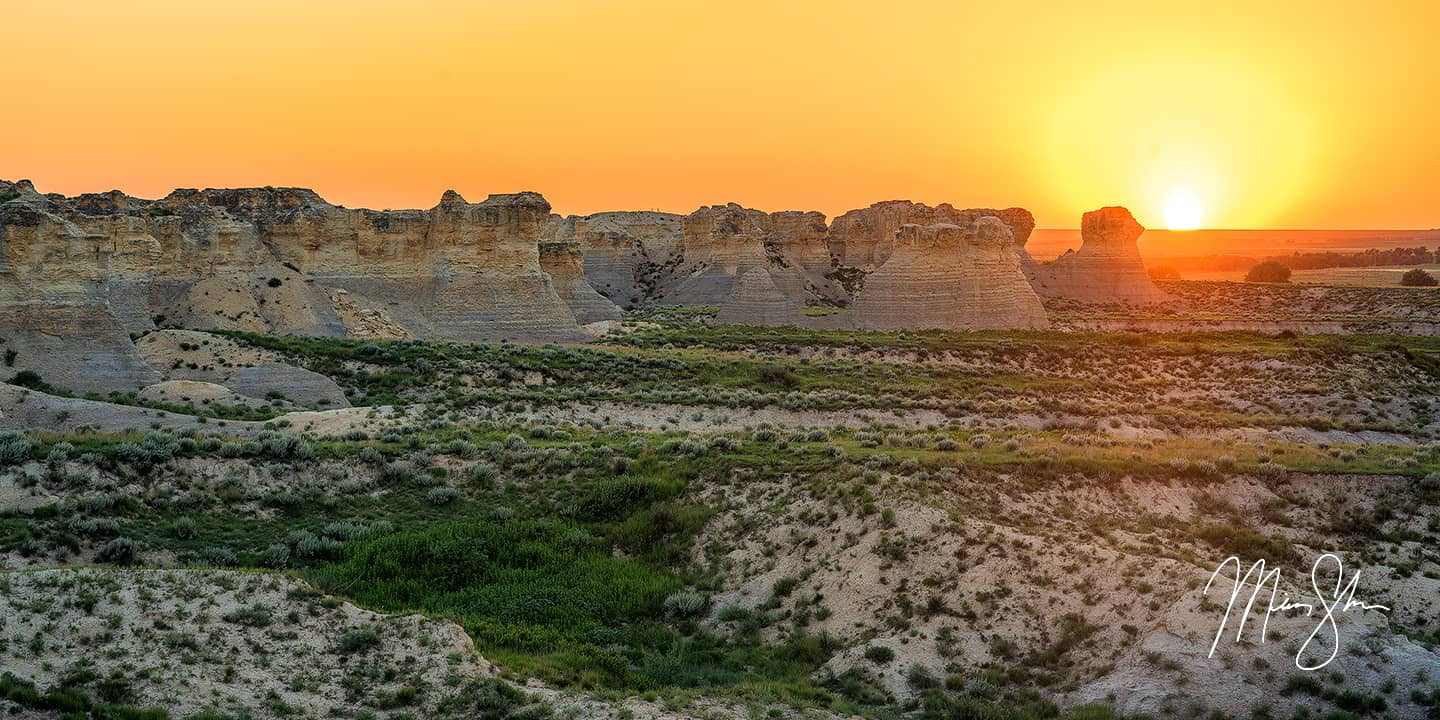 Little Jerusalem Sunset - Little Jerusalem Badlands State Park, Kansas