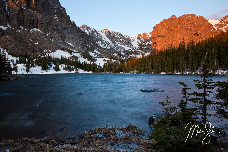 Loch Vale Alpineglow - The Loch, Estes Park, Rocky Mountain National Park, Colorado