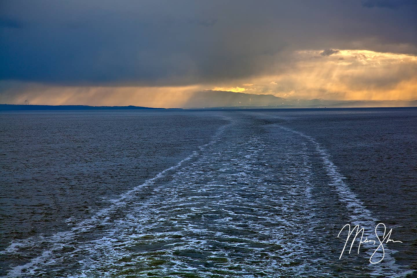 Looking Back to Vancouver Island