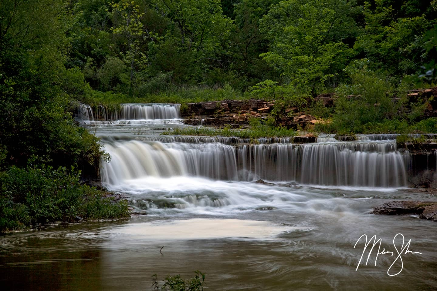 Lower Rock Creek Falls - Rock Creek Lake, Fort Scott, Kansas